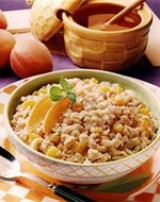 Peach Crunch Oatmeal